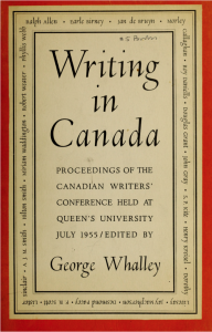 Writing in Canada