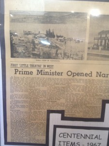 The Prime Minister was reported to be at the opening of the Home Theatre